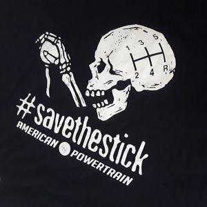Save The Stick Tshirt Manual Transmission